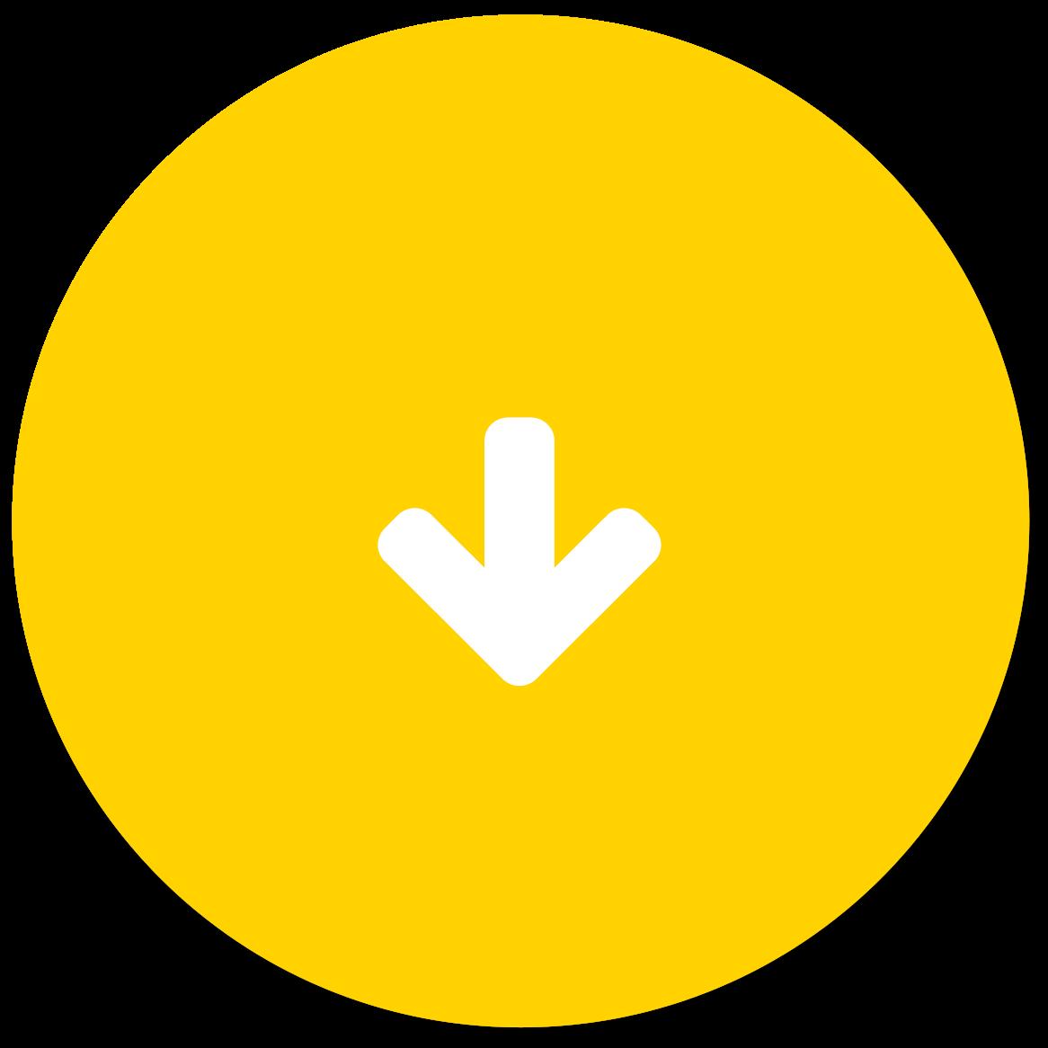 Gele button met een pijl naar beneden